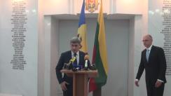 Conferință de presă susținută de ministrul Afacerilor Interne al Republicii Moldova, Alexandru Jizdan, și ministrul Afacerilor Interne al Republicii Lituania, Tomas Zilinskas