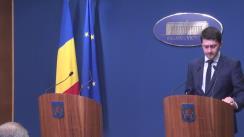 Declarații de presă susținute de ministrul Apărării Naționale, Mihnea Motoc, și ministrul Afacerilor Externe, Lazăr Comănescu, privind angajamentele României în urma Summit-ului NATO de la Varșovia