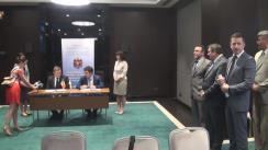 Conferință de presă organizată de Ministerul Transporturilor și Infrastructurii Drumurilor din Republica Moldova și Ministerul Infrastructurii din Ucraina
