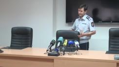 Briefing de presă organizat de Inspectoratul General al Poliției privind reținerea lui Sergiu Cibotaru