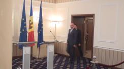Conferință de presă susținută de președintele Parlamentului, Andrian Candu, și prim-ministrul, Pavel Filip, privind realizarea angajamentelor incluse în Foaia de parcurs privind acțiunile prioritare pentru implementarea Acordului de Asociere RM-UE