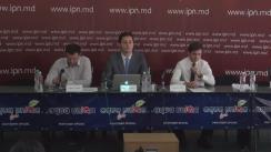 """Conferința de presă organizată de Centrul Analitic Expert-Grup cu tema """"Prezentarea ratingului transparenței bancare și a raportului de monitorizare a recentelor reforme în sectorul financiar-bancar"""""""