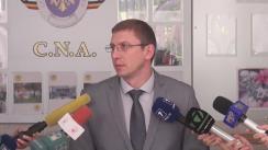 Conferință de presă susținută de procurorul anticorupție, Viorel Morari, în legătură cu reținerile de dimineață ale procurorilor anticorupție și ofițerilor CNA