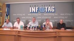 """Conferință de presă organizată de Asociația Fermierilor """"Uniagroprotect"""" cu tema """"Prețuri micșorate la cerealiere"""""""