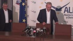 Declarații de presă susținute de copreședinții ALDE, Călin Popescu-Tăriceanu și Daniel Constantin, și președintele PSD, Liviu Dragnea
