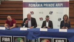Conferință de presă susținută de Federația Română de Baschet