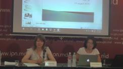 """Conferința de presă organizată de Centrul pentru Jurnalism Independent cu tema """"Elemente de propagandă, manipulare informațională și încălcare a normelor deontologiei jurnalistice în spațiul mediatic autohton (1 mai - 1 august 2016)"""""""