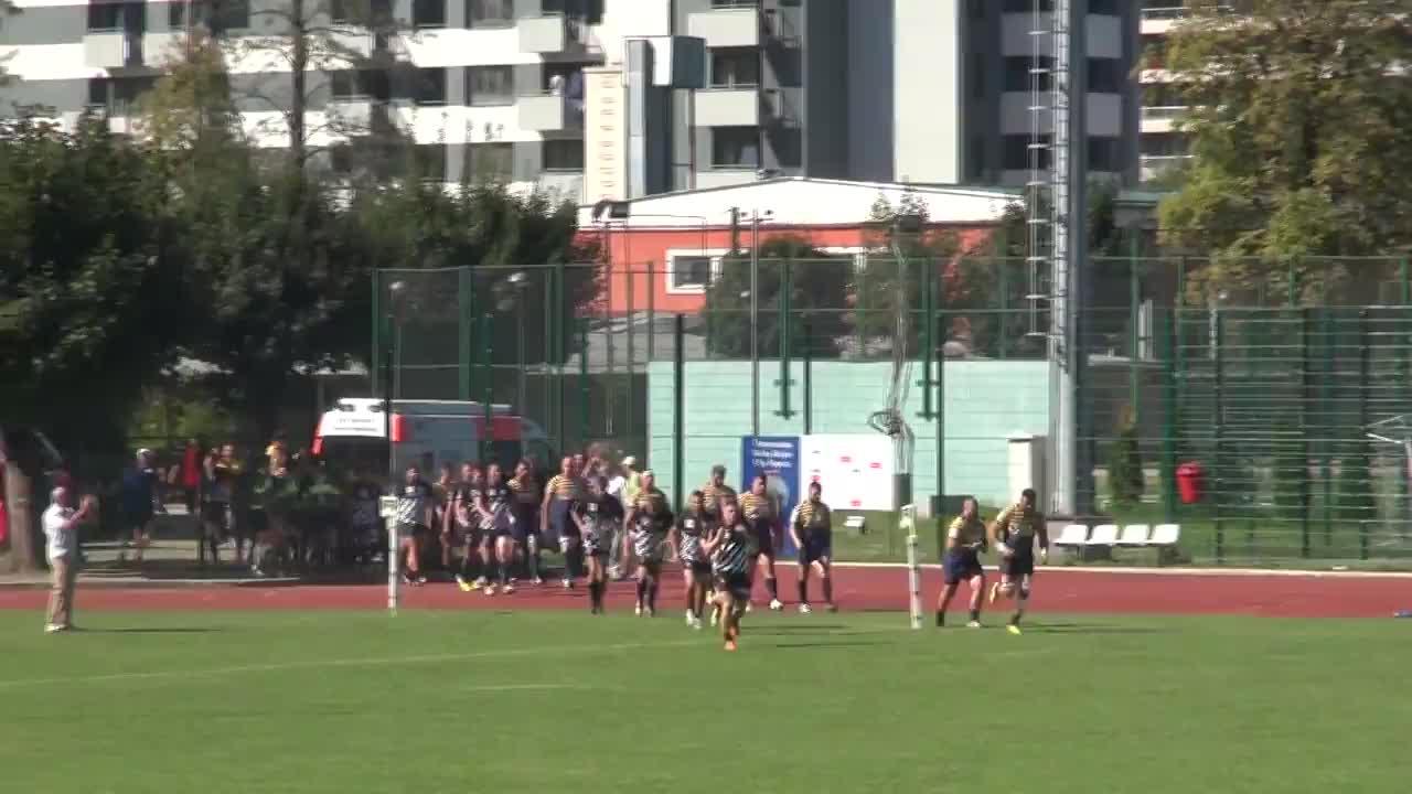 Meciul de Rugby între CS Universitatea Cluj - Timișoara Saracens. SuperLiga CEC BANK 2016