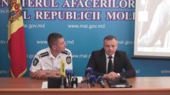 Conferință de presă de prezentare a rezultatelor unor acțiuni desfășurate de Serviciul protecție internă și anticorupție al MAI de comun cu Inspectoratul național de patrulare al IGP