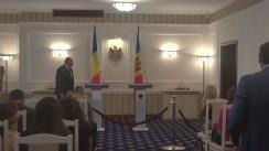 Conferință de presă susținută de prim-ministrul Republicii Moldova, Pavel Filip, și prim-ministrul României, Dacian Cioloș