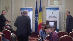 Conferință de presă susținută de ministrul Afacerilor Externe, Lazăr Comănescu, și secretarul general adjunct al NATO, Alexander Vershbow