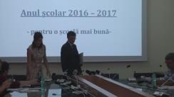 Conferință de presă organizată de Ministerul Educației Naționale și Cercetării Științifice referitoare la pregătirea noului an școlar 2016-2017