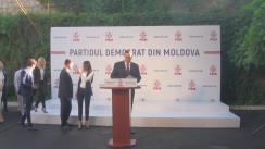 Briefing susținut de președintele PDM, Marian Lupu, privind asumarea candidaturii sale pentru alegerile prezidențiale