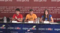 """Conferință de presă organizată de Mișcarea Civică Tinerii Moldovei cu tema """"Totalurile proiectului HoraQuest – o campanie de informare în mediul rural privind Referendumul unionist din 2018"""""""