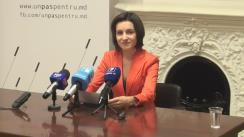Conferință de presă susținută de Președintele PAS, Maia Sandu