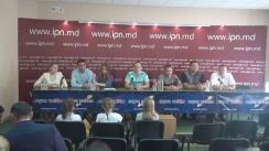 """Conferință de presă organizată de reprezentanții mai multor federații sportive cu tema """"Poziția față de alegerile prezidențiale"""""""
