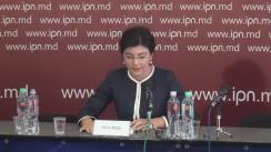 Conferință de presă susținută de Silvia Radu
