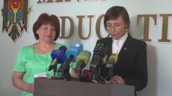 Briefing de presă privind cazurile de colectare ilicită a banilor în instituțiile de învățământ general din Republica Moldova