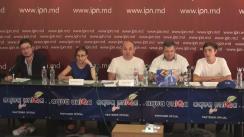 """Conferință de presă cu tema """"Integrarea europeană și beneficiile concrete și individuale ale fiecărui cetățean. Rezultatele de activitate primele 2 săptămâni"""""""