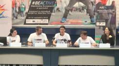 Conferință de presă prilejuită de deschiderea Săptămânii Europene a Sportului