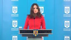Declarație de presă susținută de purtătorul de cuvânt al Președintelui României, Mădălina Dobrovolschi, referitoare la programul Președintelui Klaus Iohannis în perioada 12-16 septembrie