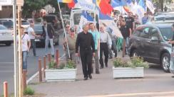 """Acțiune de protest organizată de activiștii """"Partidului Nostru"""" împotriva intențiilor Guvernului de majorare a tarifelor la căldură și energia electrică"""