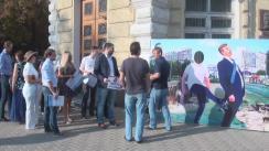 Flashmob organizat de Tinerii Partidului Popular European din Moldova pentru demiterea lui Dorin Chirtoacă