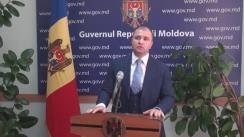 Declarațiile lui Vladimir Cebotari după ședința Guvernului Republicii Moldova din 14 septembrie 2016