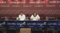 """Conferință de presă susținută de oamenii de afaceri, Aliona Mandati și Alexandru Machedon, cu tema """"Apel către oamenii de afaceri din Republica Moldova pentru susținerea financiară a Partidului Politic Platforma Demnitate și Adevăr"""""""