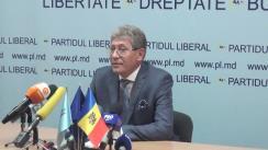 Conferință de presă susținută de președintele PL, candidatul PL la funcția de Președinte al Republicii Moldova, Mihai Ghimpu