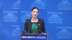 Briefing de presă susținut de președintele Comisiei pentru afaceri europene din Camera Deputaților, Ana Birchall