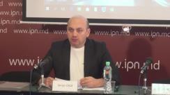 """Conferință de presă organizată de Centrul de Resurse pentru Drepturile Omului cu tema """"Drepturile cetățenilor prin prisma testului de evaluare a identității europene a prezidențiabililor și partidelor"""""""