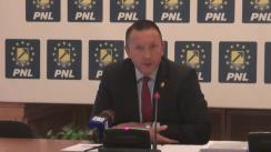 Conferință de presă susținută de viceliderul Grupului PNL din Camera Deputaților, Răzvan Mironescu