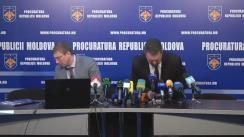Conferință de presă privind bilanțul operațiunii de reținere a celor 15 magistrați și 3 executori judecătorești pentru fapte de corupție