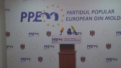 Conferință de presă susținută de candidatul PPEM înregistrat pentru alegerile la funcția de Președinte a Republicii Moldova, Iurie Leancă