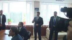 Ministrul Tehnologiei Informației și Comunicațiilor, Vasile Botnari, efectuează o vizită de lucru la Centrul de examinare a conducătorilor auto din Chișinău