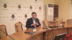 Ședința pentru Situații Excepționale convocată de primarul mun. Chișinău, Dorin Chirtoacă, ca urmare a cutremurului de pământ produs în noaptea de 24 septembrie în capitală