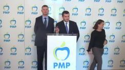 Conferință de presă susținută decătre președinții executivi ai PMP, Eugen Tomac și Valeriu Steriu