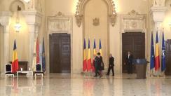 Ceremonia de decorare a domnilor Neagu Djuvara și Mihai Șora