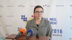 Declarațiile Alinei Russu după Ședința Comisiei Electorale Centrale din 27 septembrie 2016