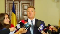 Declarație de presă a Președintelui României, Klaus Iohannis, susținute la finalul primei ședințe a Comisiei Prezidențiale privind Proiectul de Țară