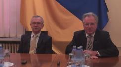 Conferință de presă susținută de Ambasadorul și ministrul Adjunct al Apărării al Ucrainei pentru Integrare Europeană, Ihor Dolhov