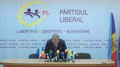 Conferință de presă susținută de președintele PL, candidat la funcția de președinte al Republicii Moldova, Mihai Ghimpu