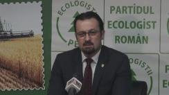 Conferință de presă susținută de Partidul Ecologist Român