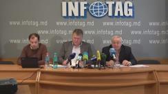 """Conferință de presă organizată de Asociația Sociologilor și Demografilor din Moldova cu tema """"Situația socio-politică din Republica Moldova în ajunul  alegerilor prezidentiale în opinia populației"""""""