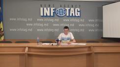 """Conferință de presă susținută de președintele organizației """"Ajutăm Copii"""", Nicolai Cojușco, cu tema """"Atacurile raider în masă care au loc în Ucraina după revoluția demnității și cauzele scăderii nivelului de trai"""""""