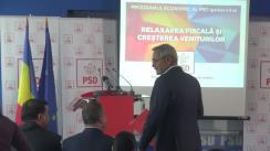 Conferință de presă susținută de președintele PSD,  Liviu Dragnea