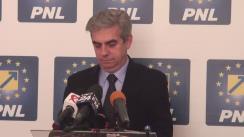 Conferință de presă susținută de liderul deputaților PNL, Eugen Nicolăescu