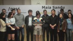 """Conferință de presă susținută de candidatul la funcția de președinte al Republicii Moldova din partea PAS, Maia Sandu, cu tema """"Guvernarea se teme de votul studenților"""""""