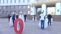 """Flashmob cu mesajul """"Descurajează corupția prin denunț"""""""